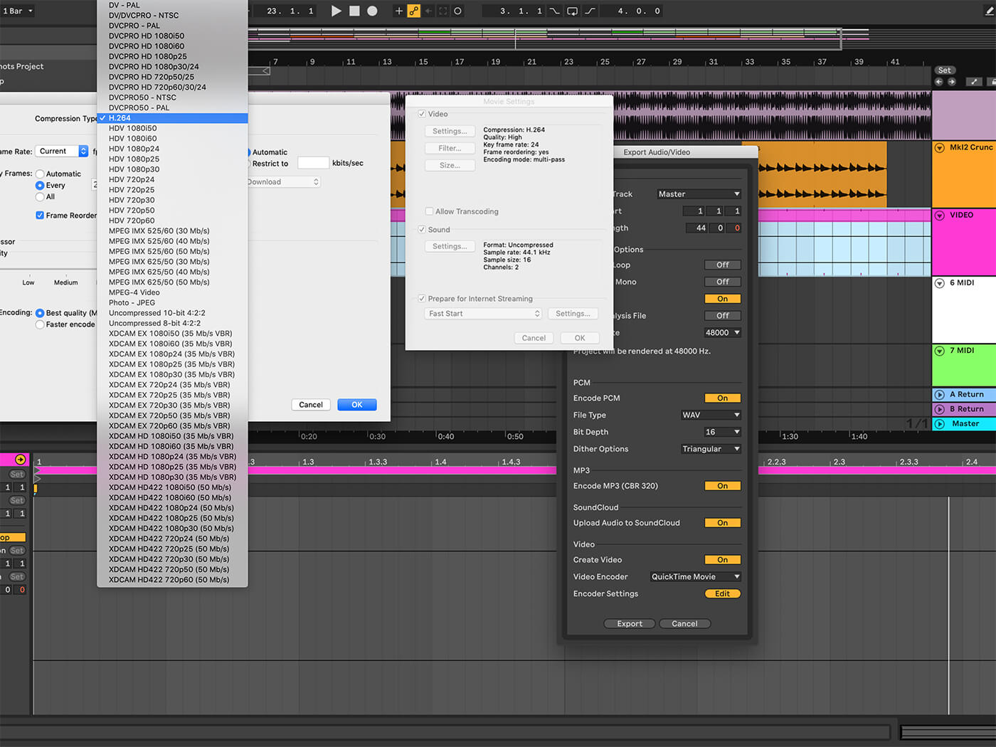 Exporting options in Ableton Live - MusicTech