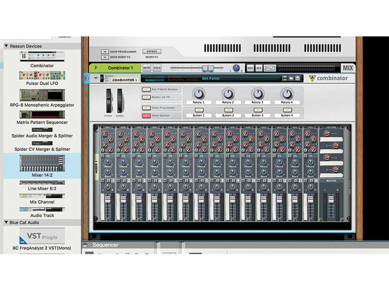 using native instruments in reason