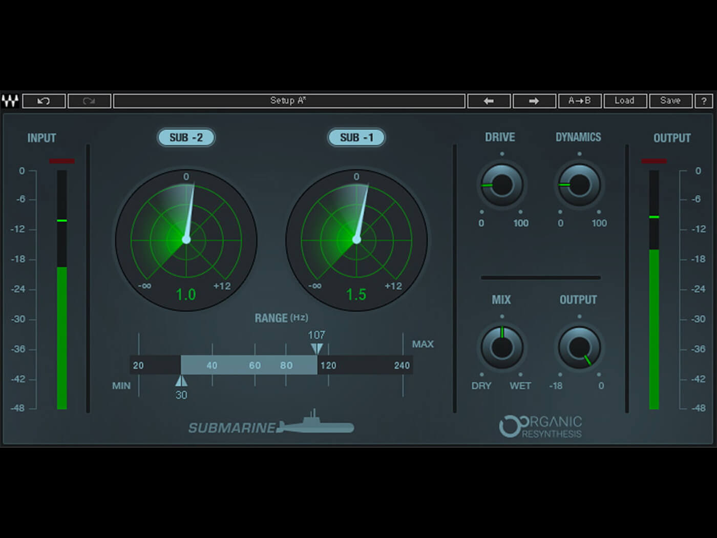 Waves Audio's Submarine plug-in generates deeper, cleaner sub bass