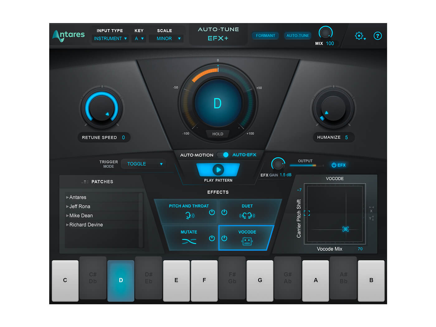 Make sweeter vocals with Antares Auto-Tune EFX+
