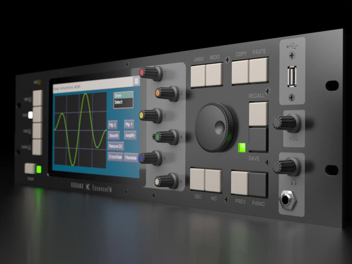Kodamo's futuristic EssenceFM synth takes a graphical approach