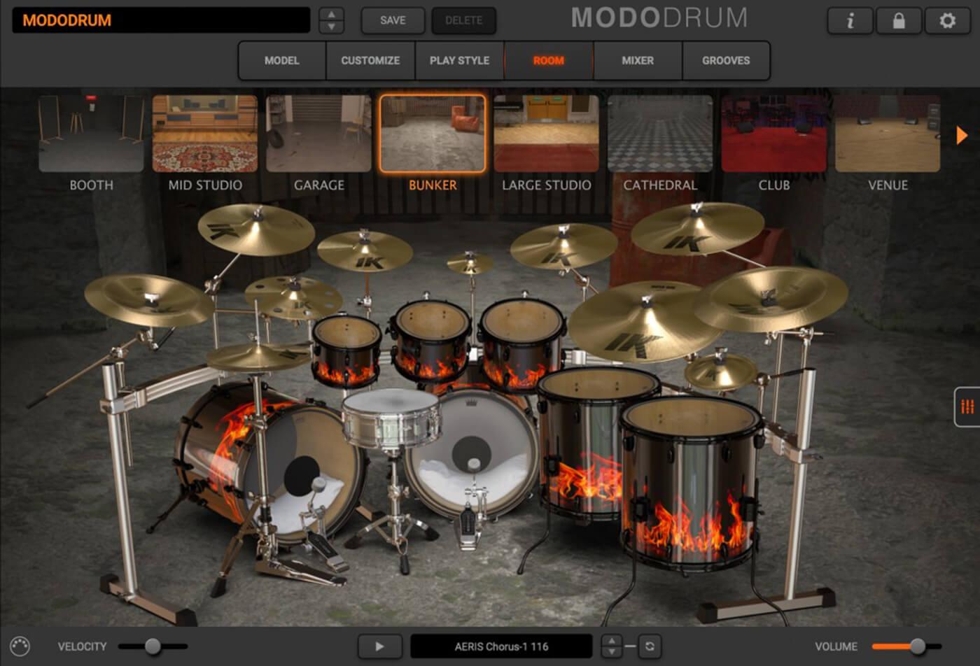 IK Multimedia Modo Drum bunker venue