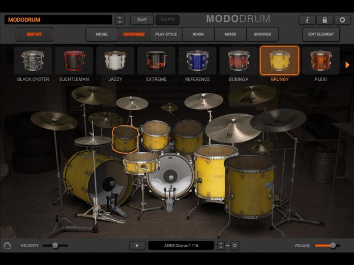 IK Multimedia Modo Drum grungy kit