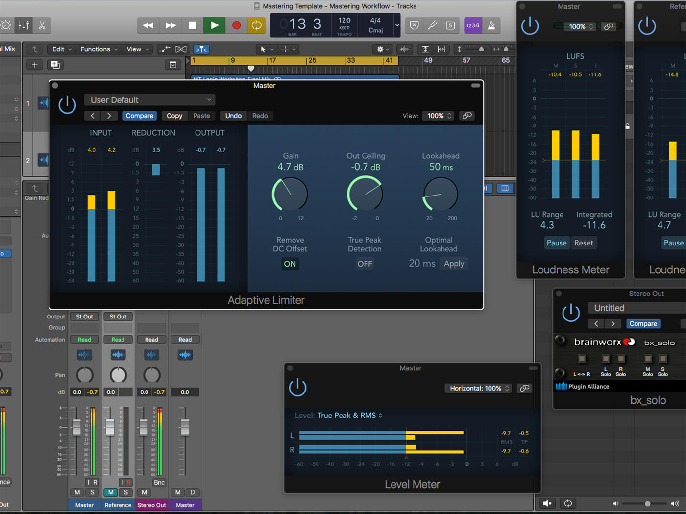 How to develop a professional mastering workflow in Logic
