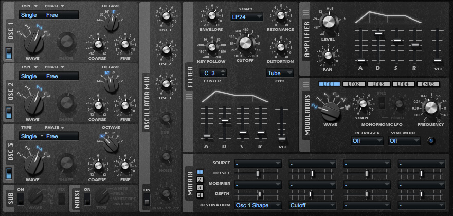 Subtractive synths tips, Searing lead