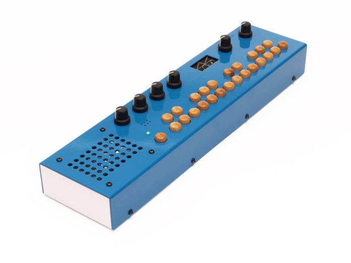 Critter & Guitari Organelle synth/sampler angled
