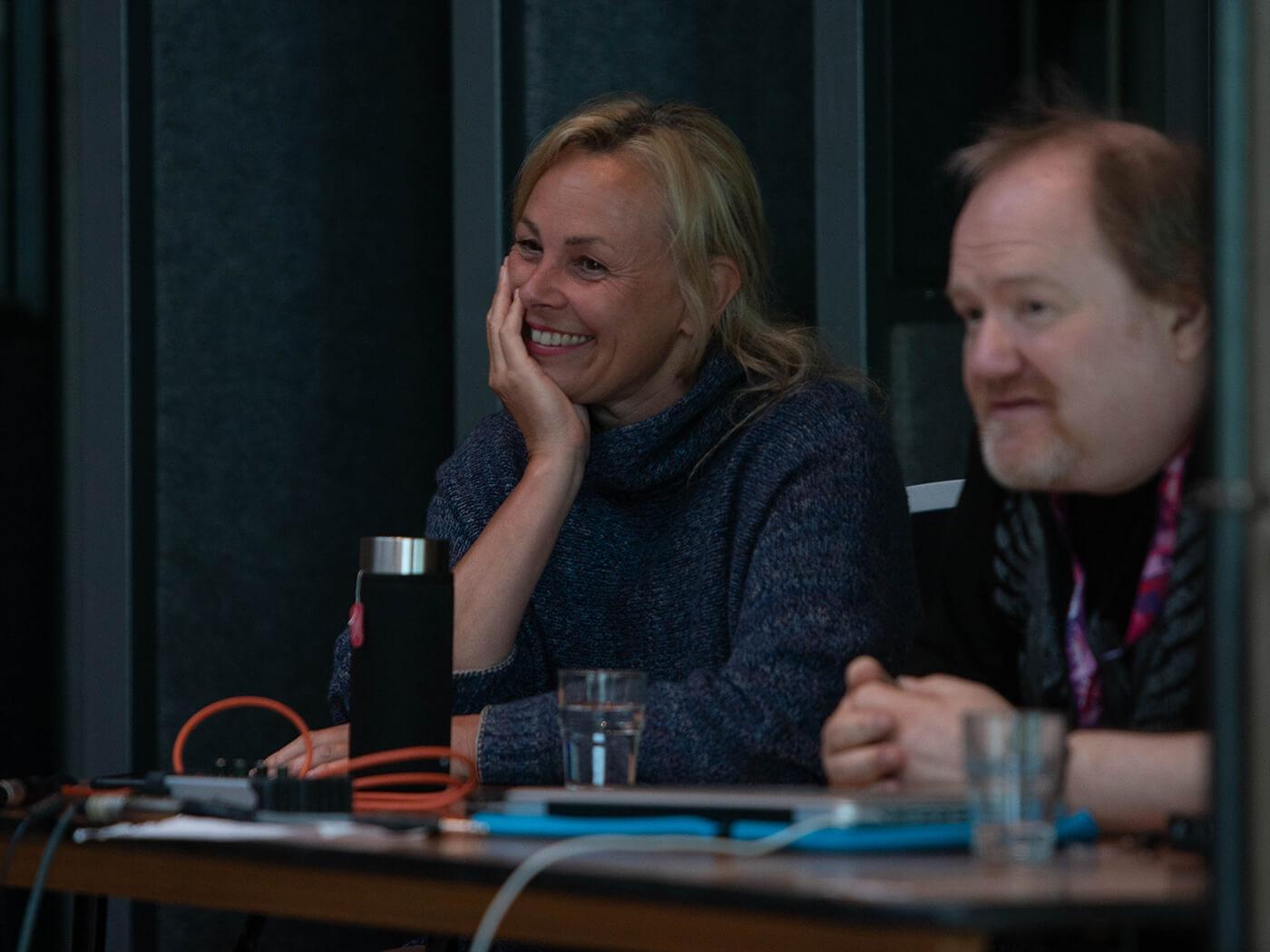 Barbara and Graham at Real World Studios