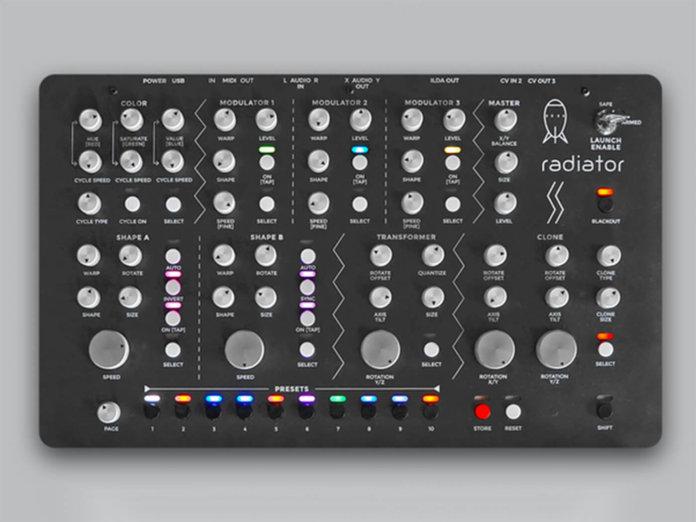 Neon Captain Radiator Laser Synth prototype