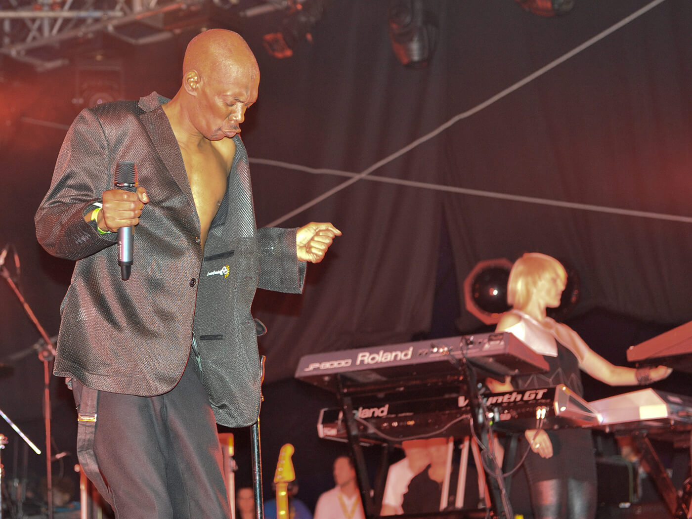 Faithless's Sister Bliss's JP-8000 is a solid fixture of the band's setup