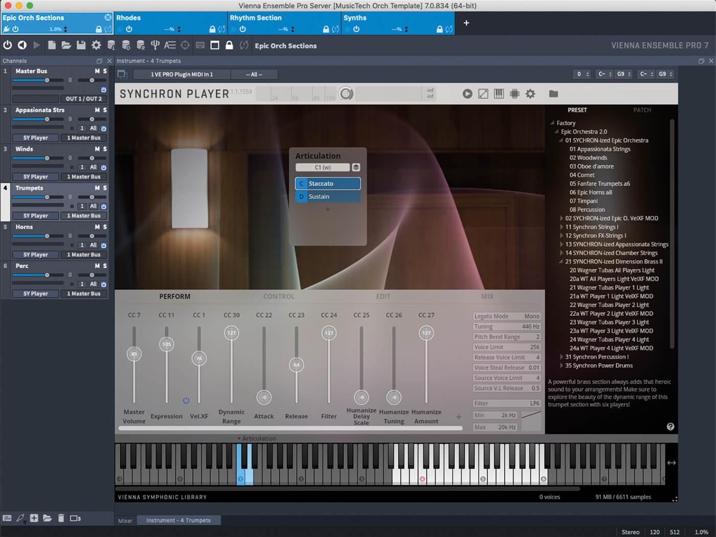 Review: VSL Vienna Ensemble Pro 7