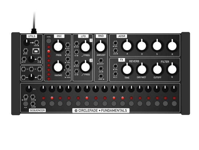 CircleFade CFM2 Semi-modular synthesizer mock up