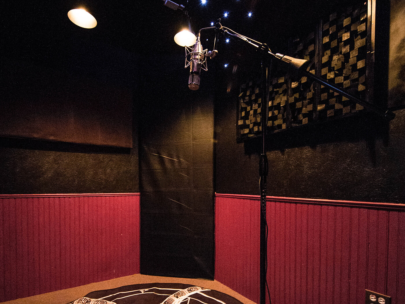 The vocal booth at Juggernaut Audio