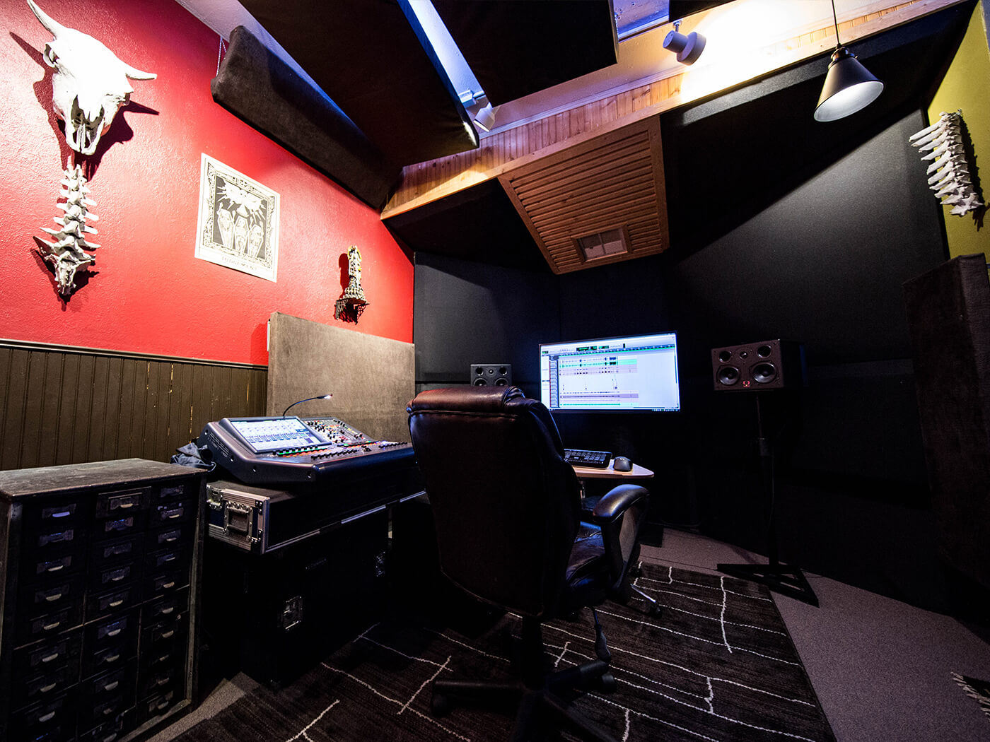 The control room at Juggernaut Audio
