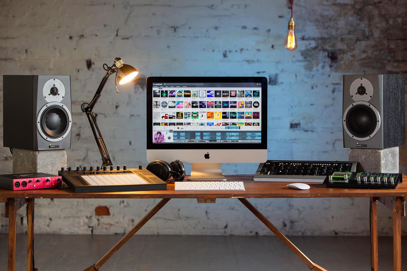 Loopmasters Loopcloud 5 desktop setup