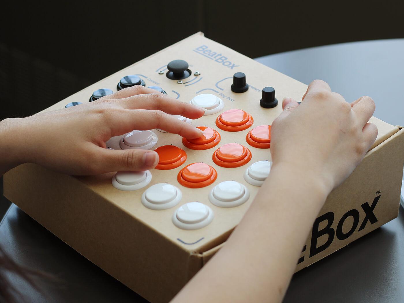 Rhythmo's BeatBox is a cardboard drum machine