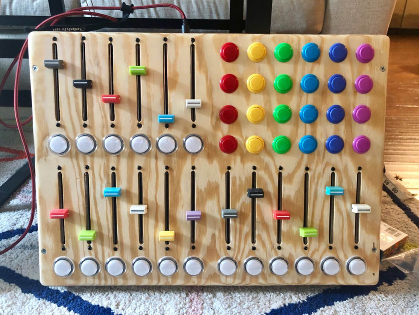 We want these rainbow-buttoned MIDI controllers