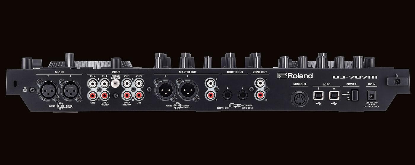 Roland DJ-707M controller bottom IO