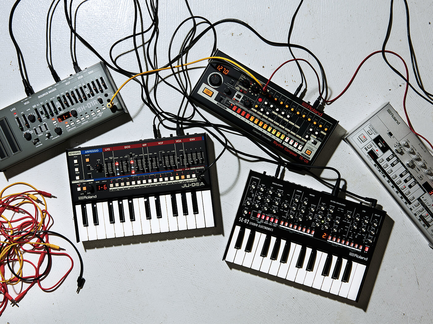 The SH-01, JU-06A, TR-08, SE-02 and TB-03 together