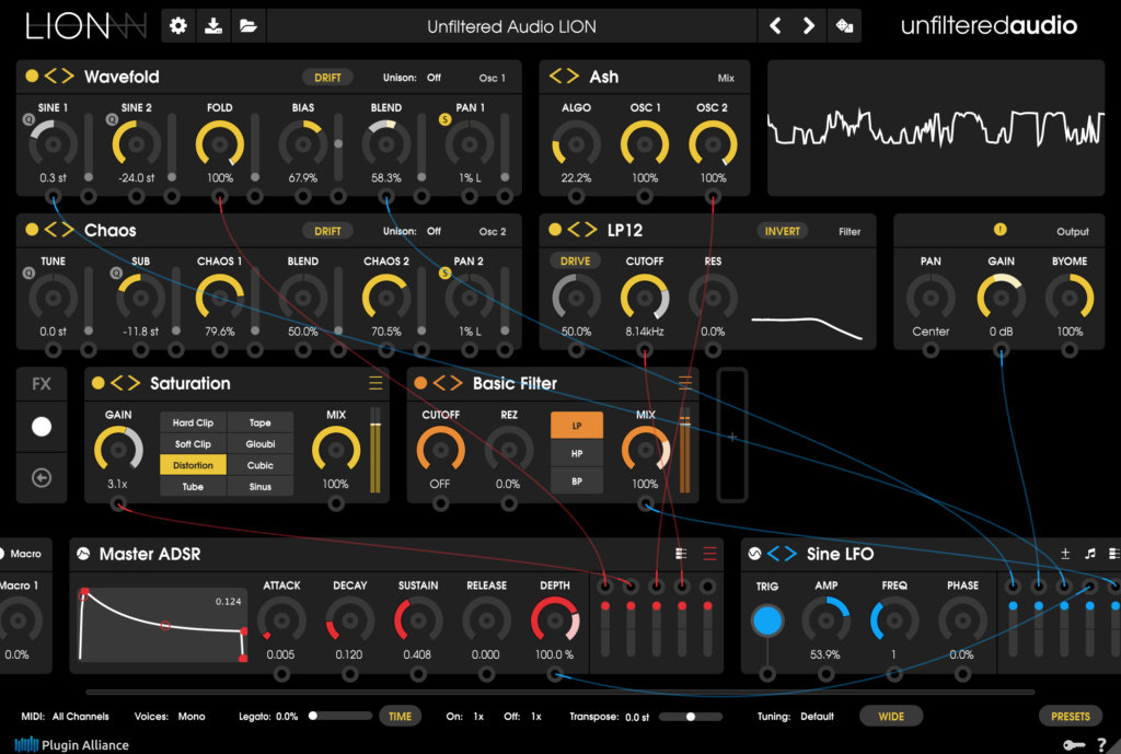 Unfiltered Audio's patchable soft synth beast, LION, is out now - MusicTech