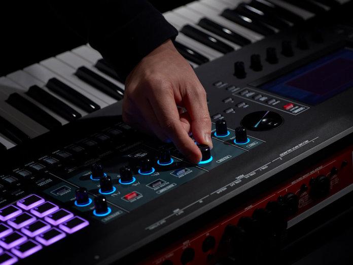 Roland Fantom Keyboard in use