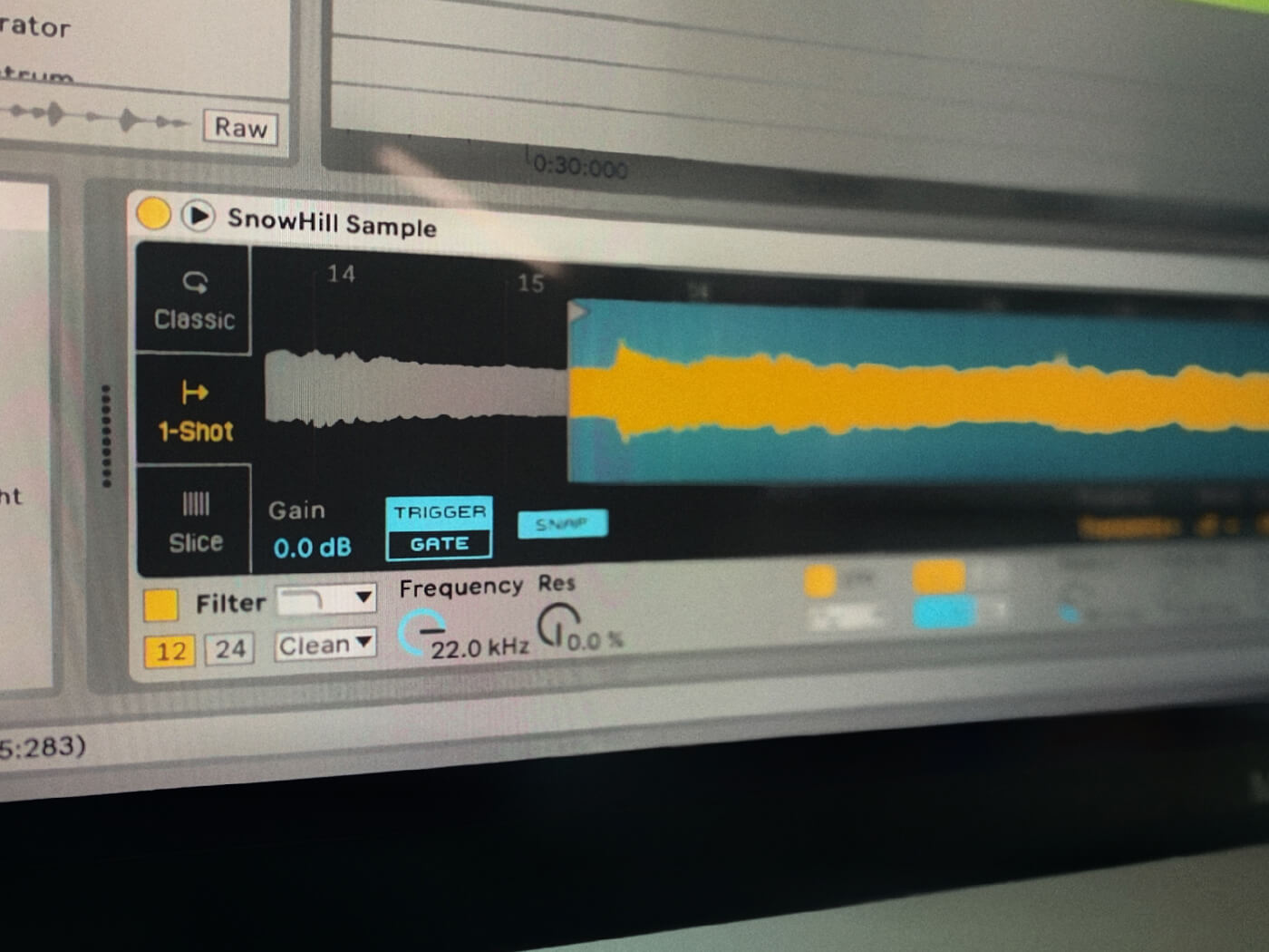 Sampling in Ableton