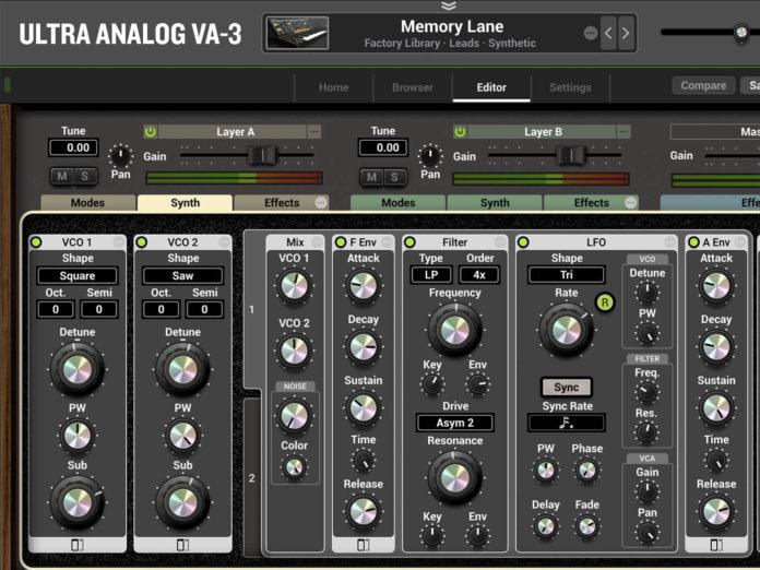 AAS Ultra Analog VA-3 GUI 1400x1050