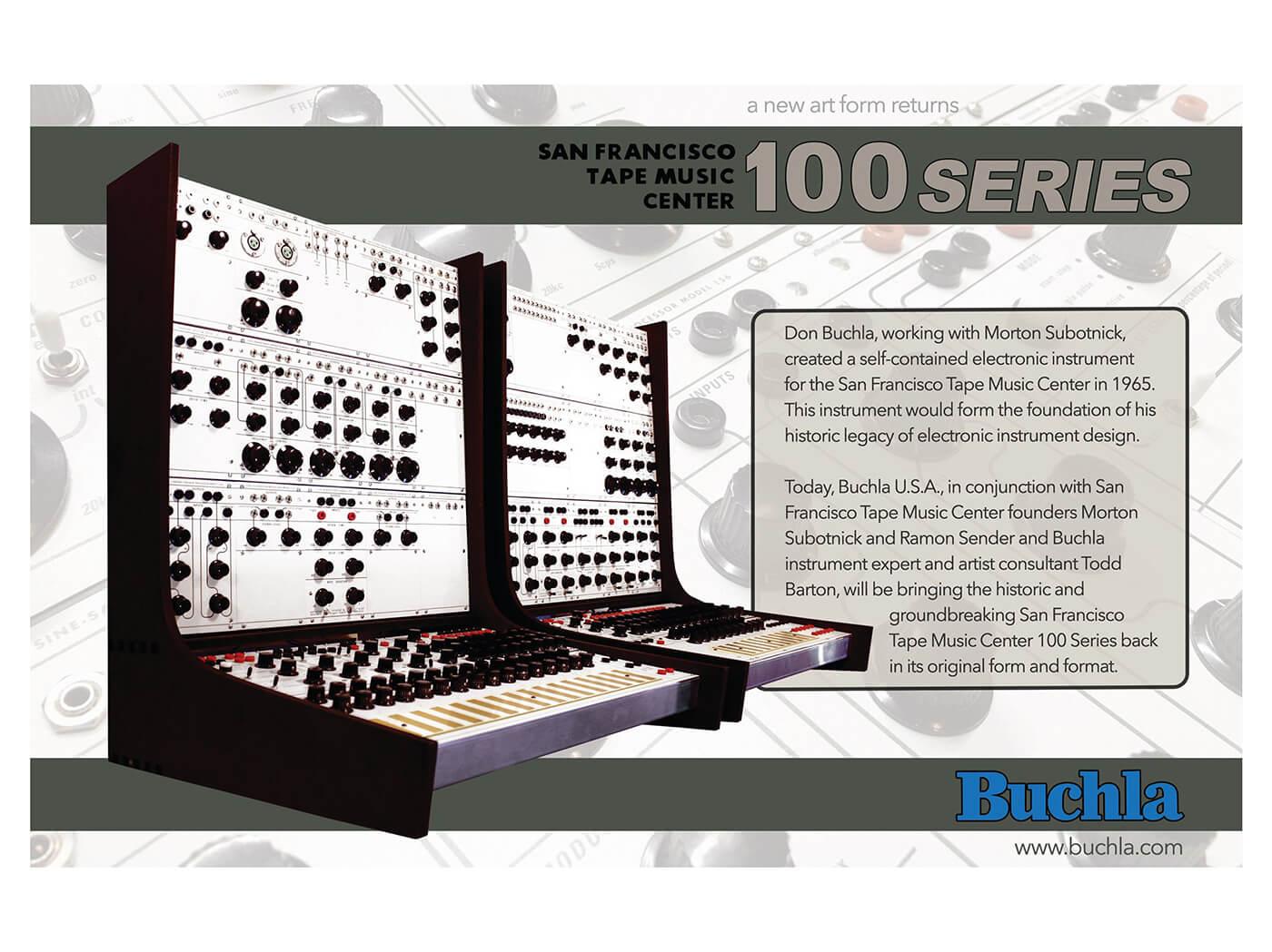 Buchla 100 series modular synth reissue