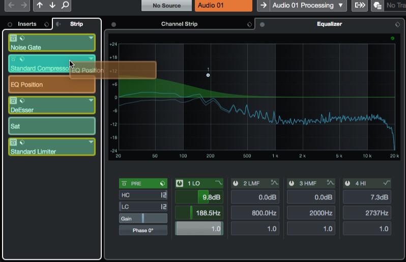 Cubase tutorial: Using channel-strip processors