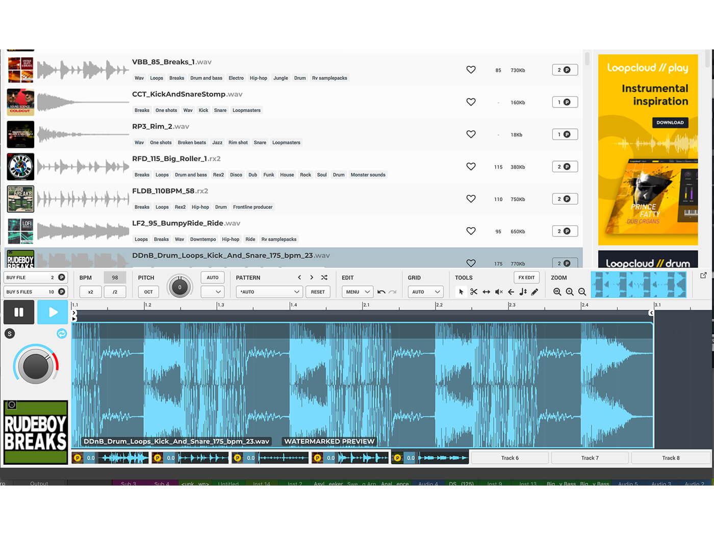 Loopmasters Loopcloud 5 Multi-track recorder