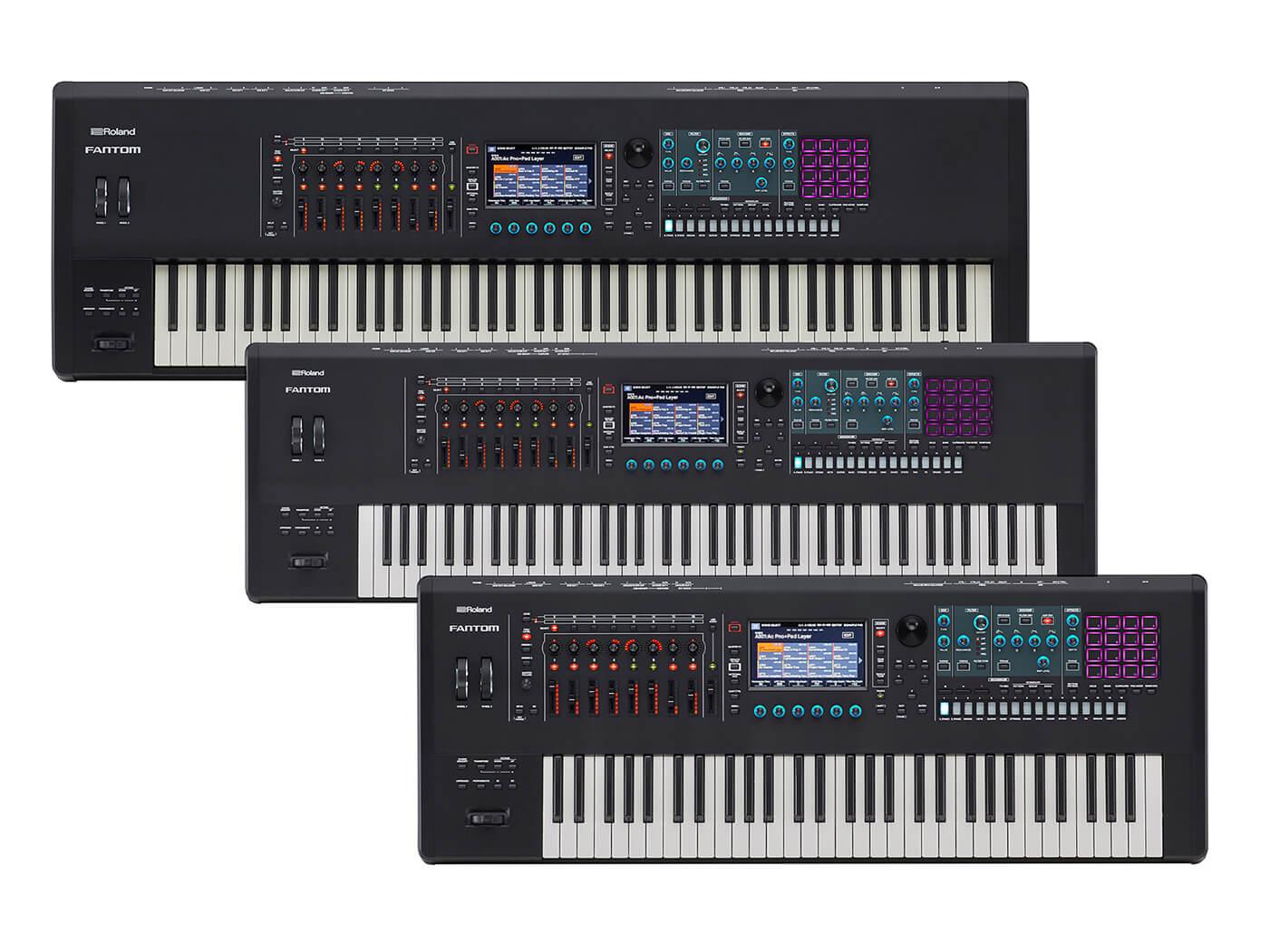 Roland Fantom keyboards group shot