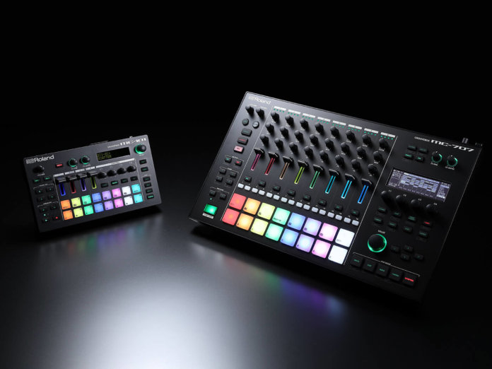 Roland MC-707 and MC-101 grooveboxes