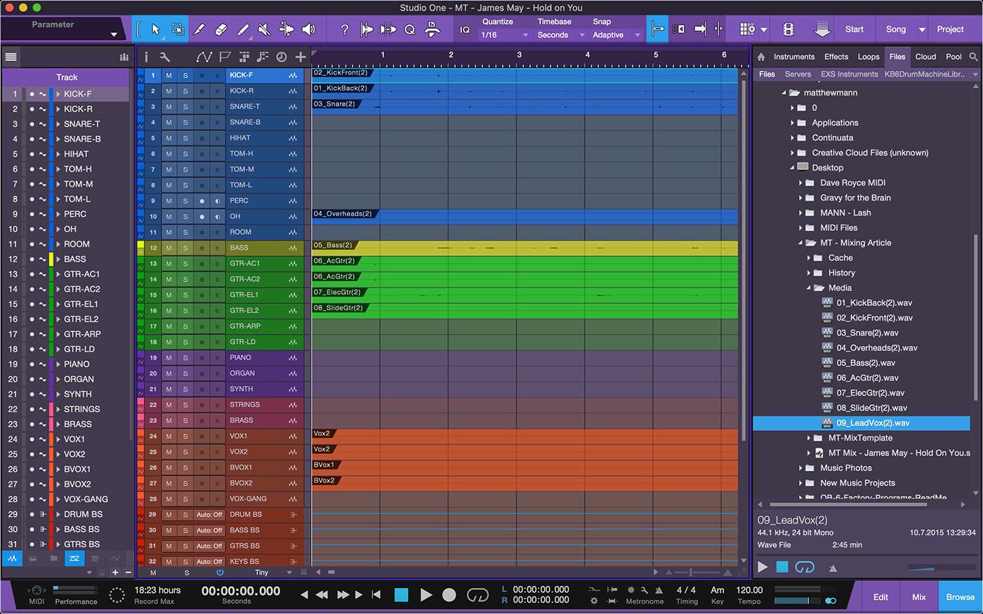 Mixing in Studio One