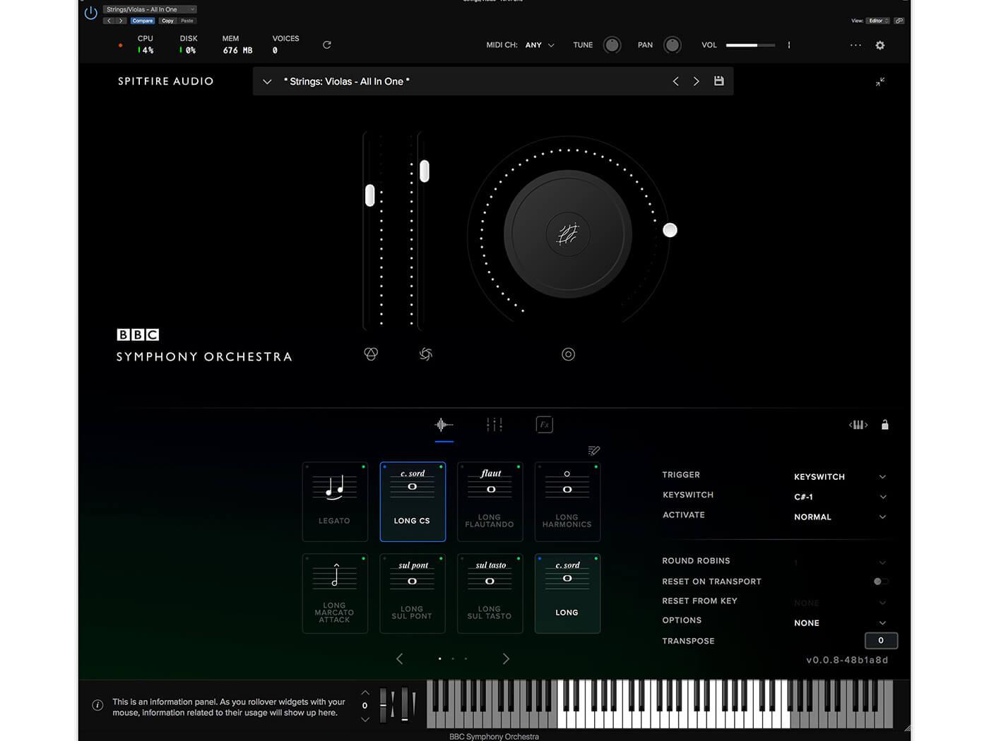 Spitfire Audio BBC Symphony GUI