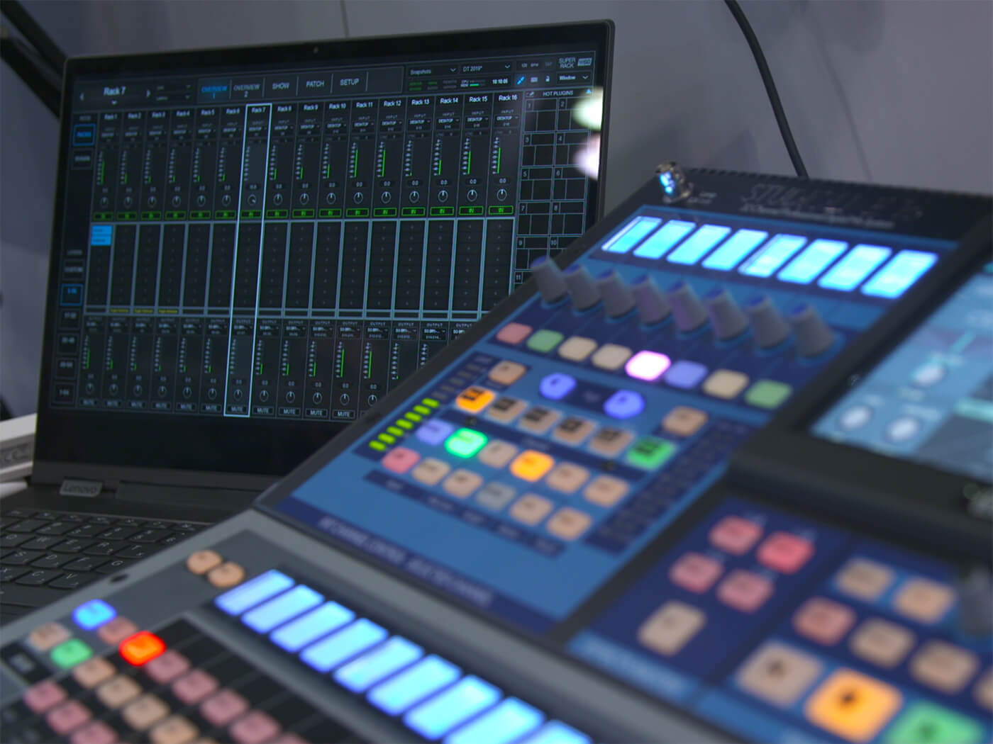 Waves SuperRack brings touch compatibility to live plug-in platform