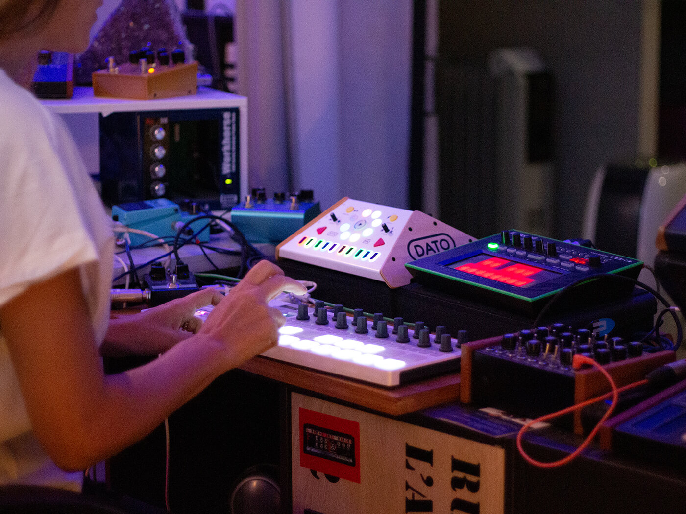 Francesca Lombardo with Arturia Beatstep