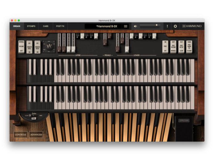 IK Multimedia Hammond B3-X (Main UI)