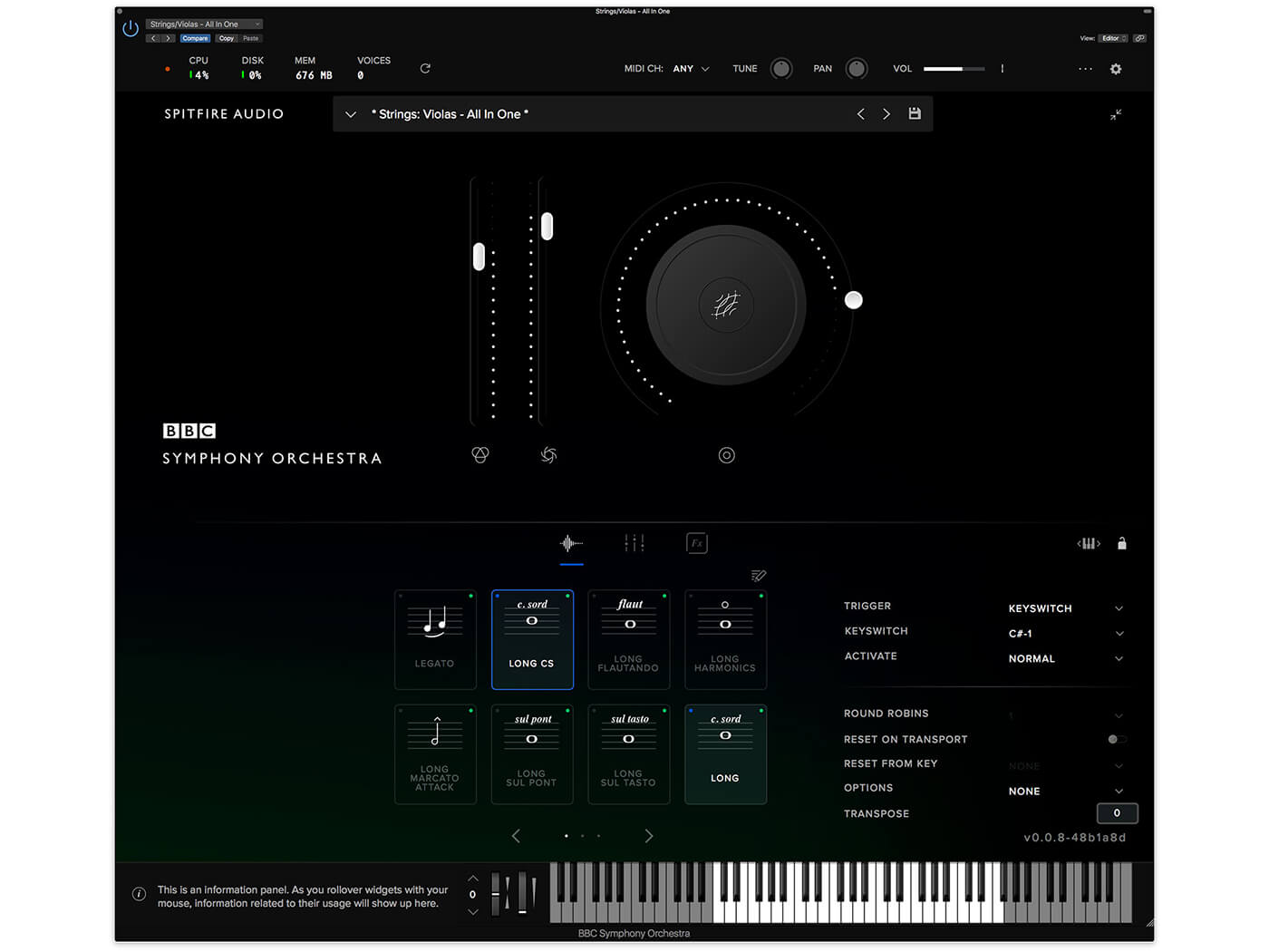 Spitfire Audio BBC Symphony Orchestra (UI)