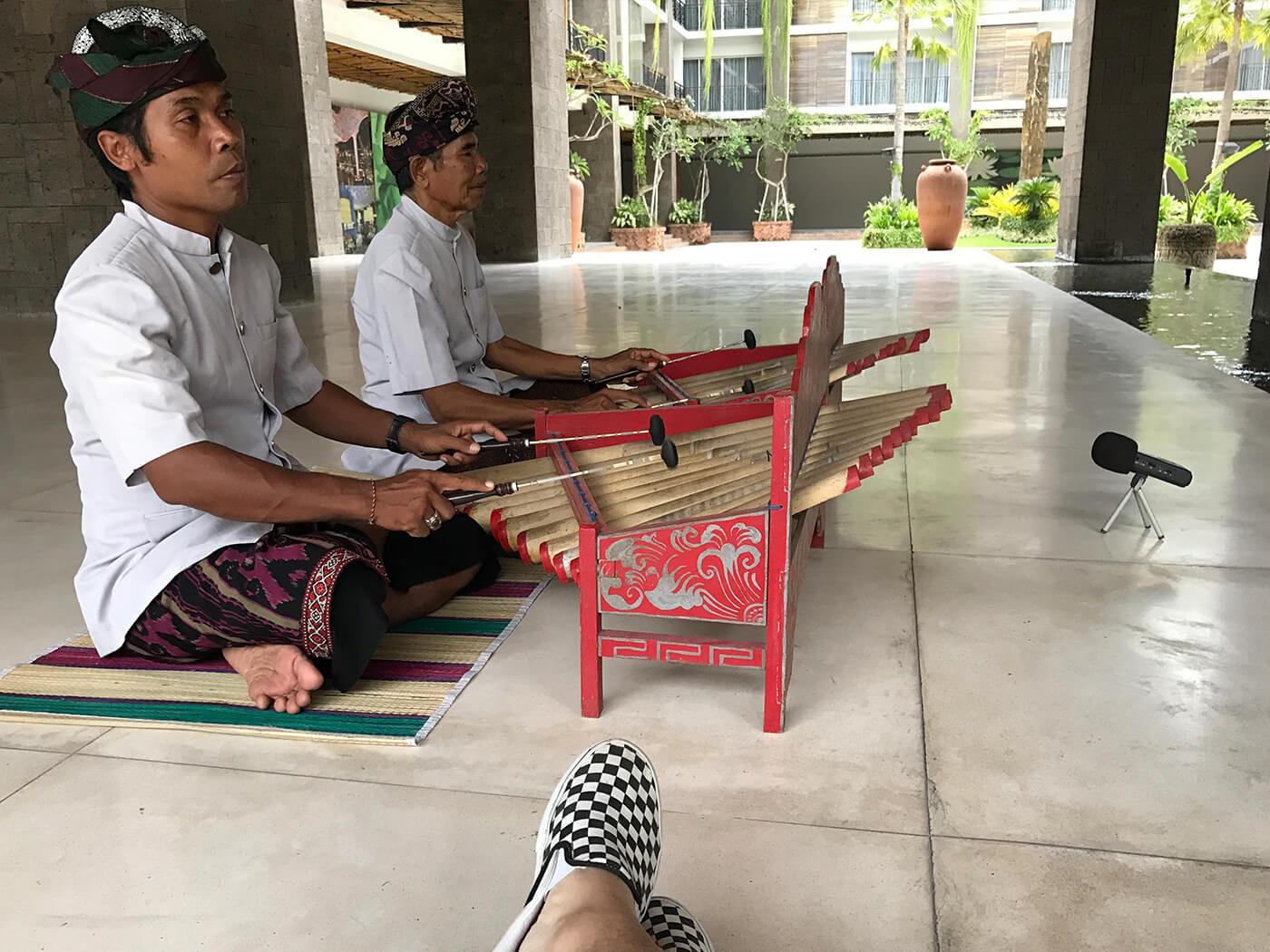 Rindik musicians in Bali