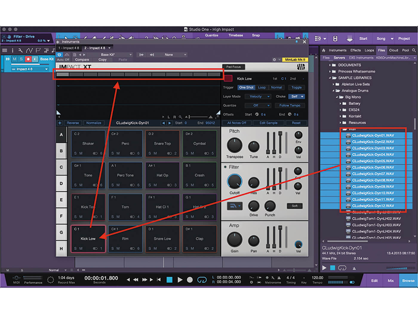 Studio One MT Making An Impact With Impact XT Step 3