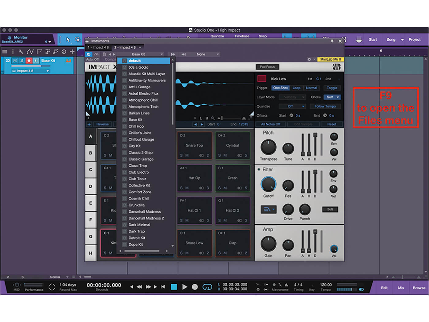 Studio One MT Making An Impact With Impact XT Step 5