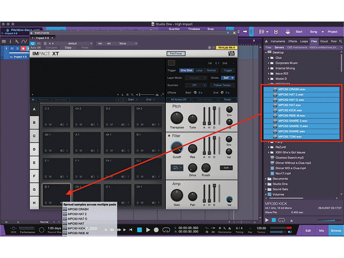 Studio One MT Making An Impact With Impact XT Step 6