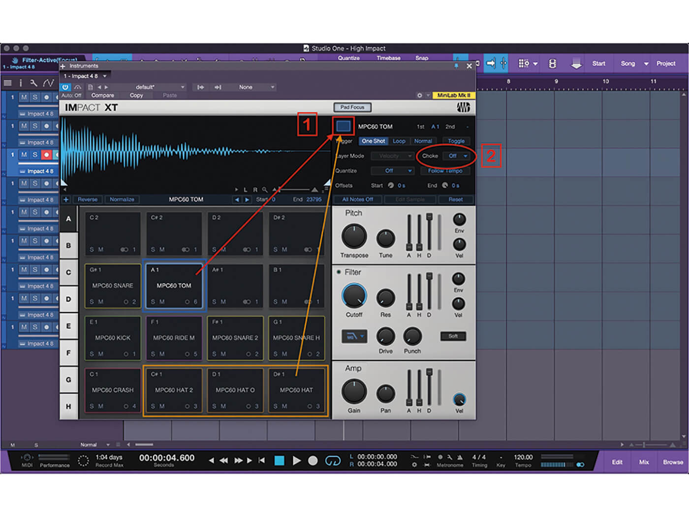 Studio One MT Making An Impact With Impact XT Step 8