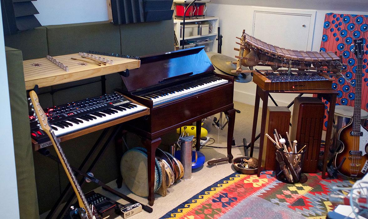 Left side view of Tim Goalen's studio