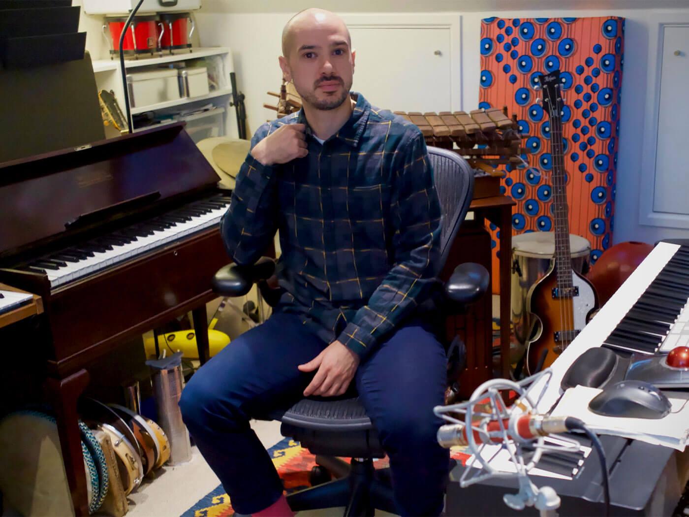 Tim Goalen in the studio