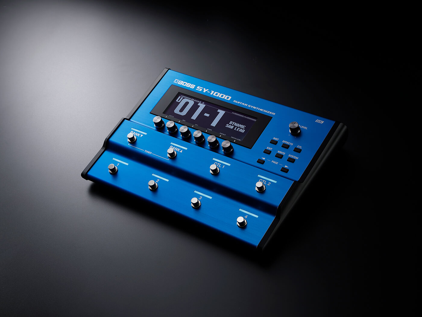 The Boss SY-1000 synth pedal for guitarists and bassists.