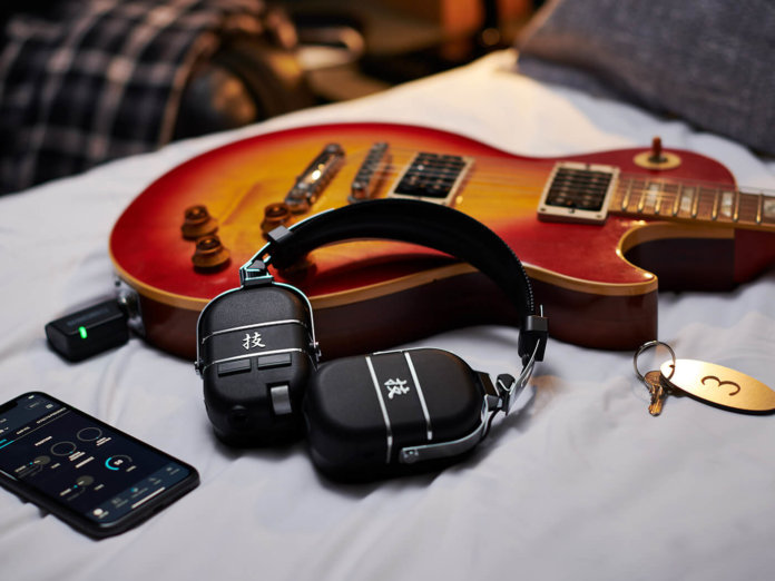 The new Boss Waza-Air Personal Guitar Amplifier System wireless headphones.