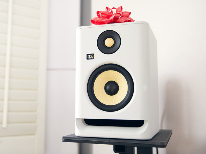 The limited edition Rokit G4 'White Noise' by KRK Systems.