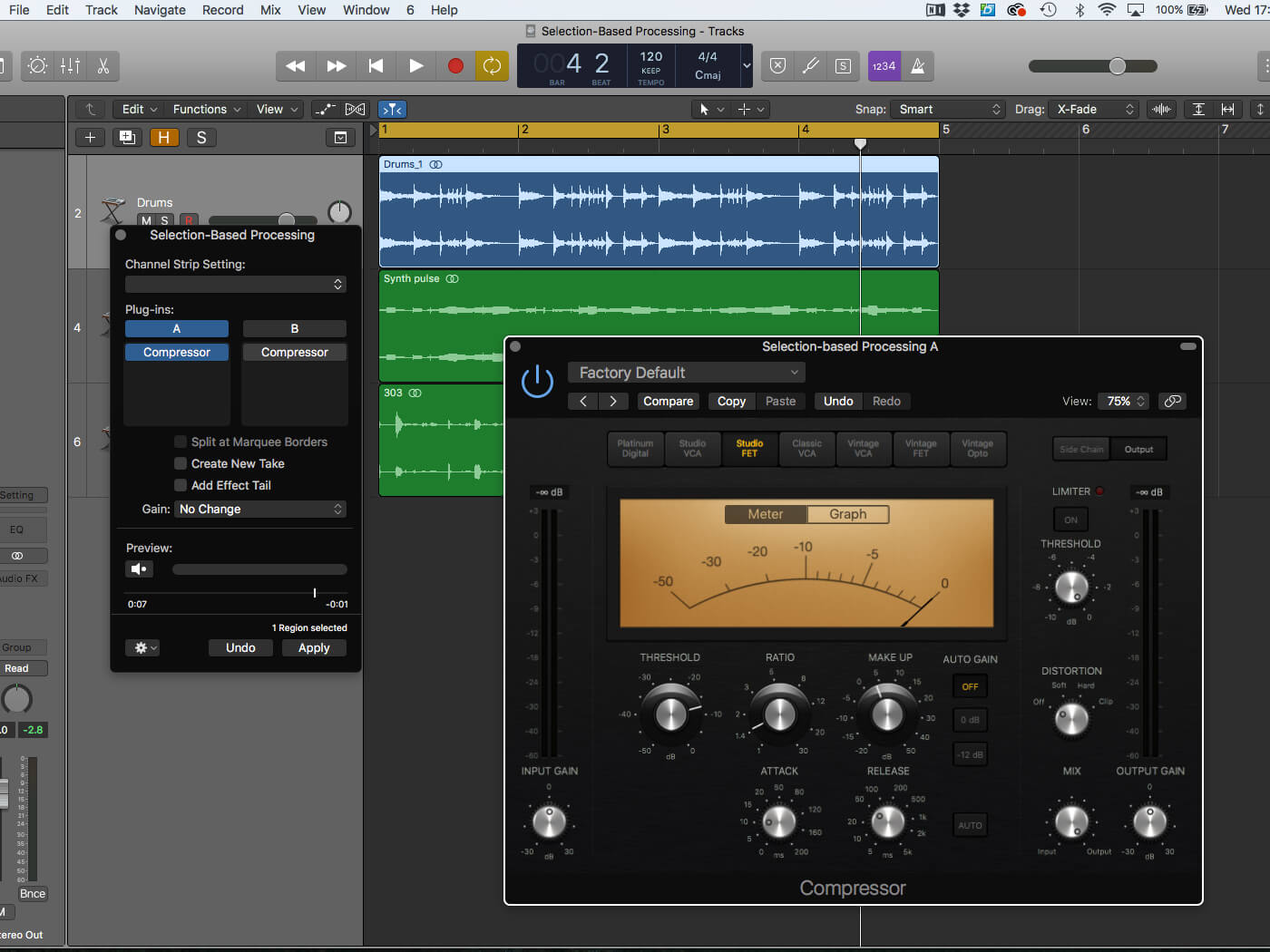 Working with Selection-Based Processing in Logic Pro X - MusicTech