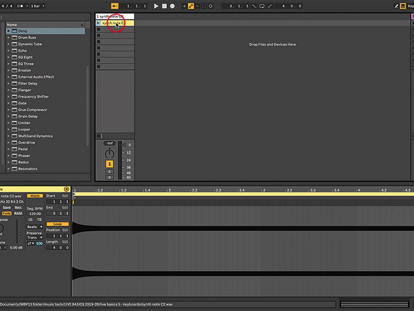 Ableton Live Walkthrough 1