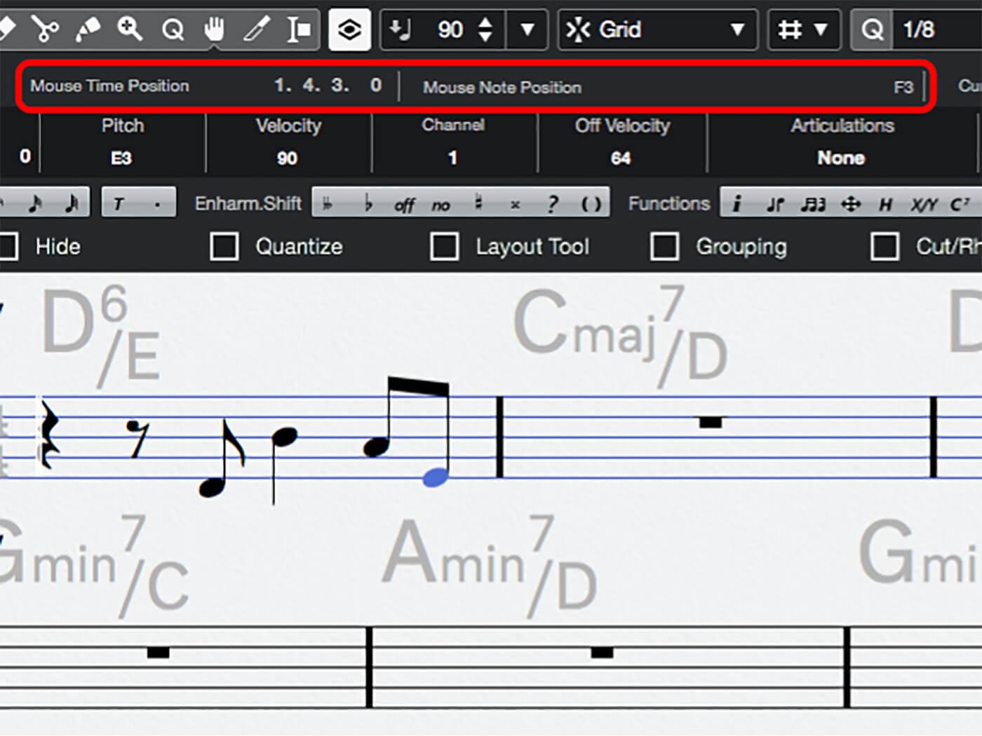MT 205 Cubase Score Editor Step 10